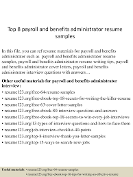 How To Write Resume For Job Interview by Benefits Administrator Benefits Administrator Performance