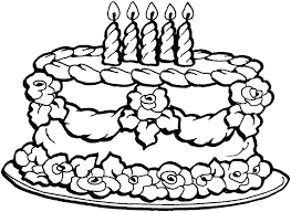 birthday cake coloring pages frozen page card online preschool