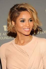 chin length hairstyles for ethnic hair 12 celebrities who make messy bobs look so good celebrity short