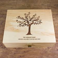 personalised keepsake box personalised our family tree wooden memory box gift or
