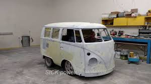 electric volkswagen van 1966 vw bus first burnout electric conversion just a tease