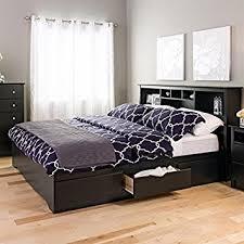 King Platform Storage Bed Prepac Black Sonoma King Bookcase Platform Storage Bed