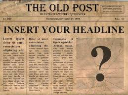 Newspaper Meme Generator - editable old newspaper template one of a number of nice templates