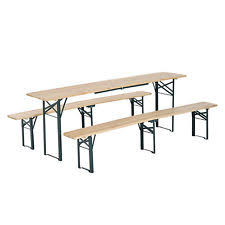 Beer Garden Tables by Wooden German Style Folding Picnic Beer Garden Table Set 3 Piece