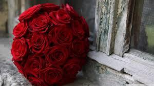 Red Wedding Bouquets Red Roses Wedding Bouquet Hd Desktop Wallpaper For 4k Ultra Hd
