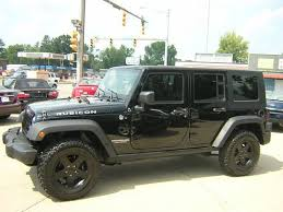 all black jeep purchase used all black 2010 jeep wrangler unlimited rubicon