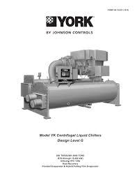 york chiller yk 160 75 heat exchanger gas compressor