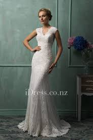 cap sleeved all over lace sheer keyhole back mermaid wedding dress