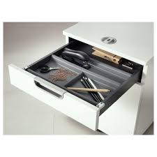 summera drawer insert with 6 compartments anthracite 44x37 cm ikea