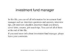 investment fund manager