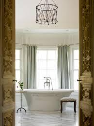 Small Bathroom Chandelier Bathrooms Bathroom Decor With Oval White Bathtub And Small Stool