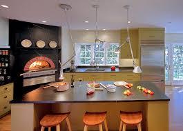 indoor kitchen indoor wood fired pizza ovens transitional kitchen san