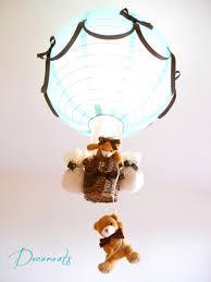 abat jour chambre bébé garçon le montgolfière enfant bébé création artisanale