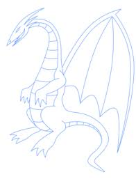 how to draw simple dragon drawings