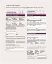 generic credit application template sample credit card form 9 examples in word pdf