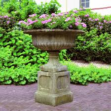 tazza and plinth 1m 08cm total height garden ornaments direct
