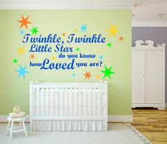 Twinkle Little Star Nursery Decor Twinkle Twinkle Little Star U0027 Nursery Kids Room Large Wall