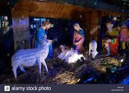 Decoration Of Christmas Crib by Kolkata India 16th Dec 2016 Christmas Crib Decoration In Alen