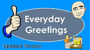 everyday greetings basic conversation practice esl
