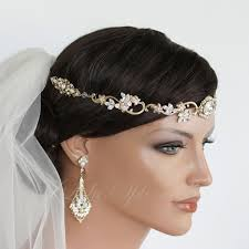 wedding hair bands 35 best gold images on wedding hair accessories
