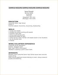 Senior Resume Template High Resume High Resume 8 High Resume 8