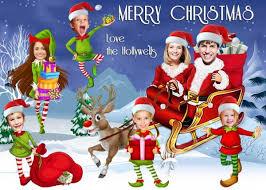 family christmas santa s sleigh christmas card family christmas cards