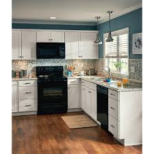 arcadia white kitchen cabinets lowes now arcadia 33 in w x 35 in h x 23 75 in d white sink base stock cabinet