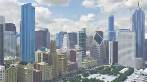 New York City Map For Minecraft by From Trees To Towers This Minecraft Model Of Chicago Is