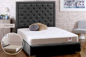 handmade chelsea fabric bed frame with mattress option