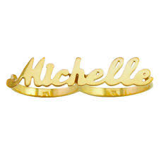 Two Finger Name Ring Two Finger Name Ring Ebay
