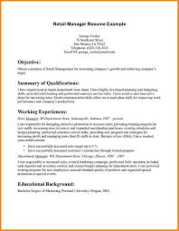 Retail Management Resume Examples by Store Manager Resume Objective Free Resume Example And Writing