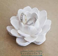 ring holder for wedding lotus flower ring dish flower ring holder wedding
