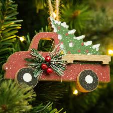 the aisle wooden truck shaped ornament reviews wayfair