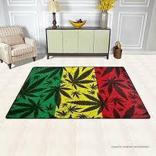 chambre rasta feuille de cannabis sur grunge drapeau rasta zone tapis moquette
