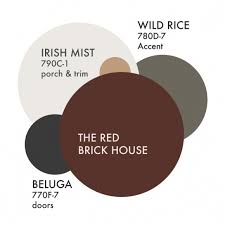 our planned exterior house colors instead of red for house color