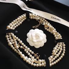 beaded pearl necklace images Authentic chanel 2016 2017 star cc logo long beaded faux pearl JPG
