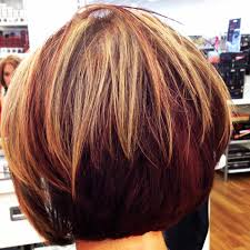 bob haircut with blonde highlights hair color red brown blonde