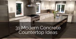 kitchen countertop ideas with maple cabinets 31 modern concrete countertops sebring design build