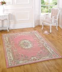 Chic Rugs Very Large Quality Wool Oriental Traditional Flower Design Pink