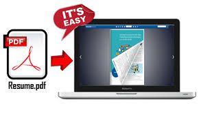 Easy Online Resume Builder by Online Resume Portfolio Maker Converts Pdf To Interactive Page