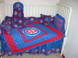 Chicago Cubs Crib Bedding Crib Nursery Bedding Set Made W Chicago Cubs Fabric Ebay