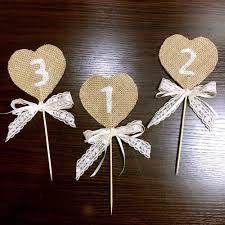 aliexpress com buy handmade rustic table numbers wedding