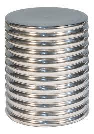 silver barrel side table silver barrel stool side table sarreid ltd portal your source