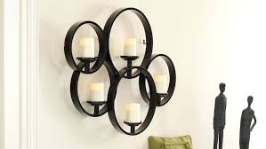 Rustic Candle Sconce Sconce Set Of Two Privas Wall Mount Candleholders Gold Metal