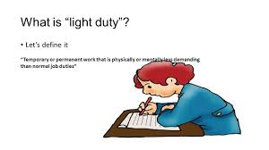what is light duty work temporary employment from disability to gainful employment philip k
