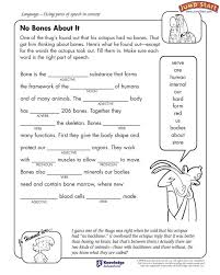 ideas of parts of speech worksheets grade 4 about format sample