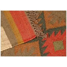 Flat Weave Runner Rugs Rugsville Tribal Multi Wool Jute Kilim Flatweave Runner Rug 2 6 X 8
