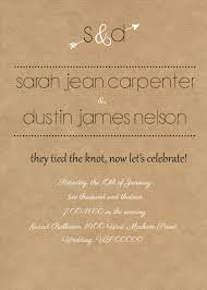 rustic reception invite i like the wording of this especially if