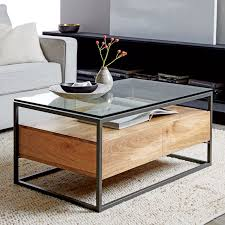 Glass Coffee Table Online by Box Frame Storage Coffee Table West Elm