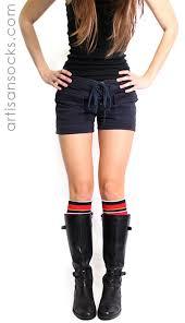 k bell soft and dreamy preppy striped knee high socks